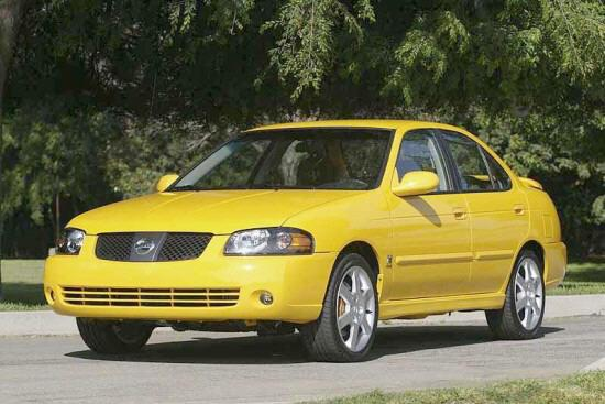 Front left Yellow 2005 Nissan Sentra SE-R Car Picture