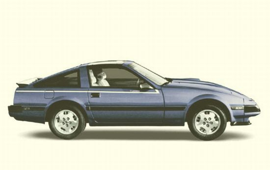 Right Side Blue 1984 Nissan 300 ZX Car Picture