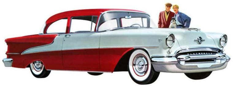 Front RIght 1955 Oldsmobile Super 88 Car Picture