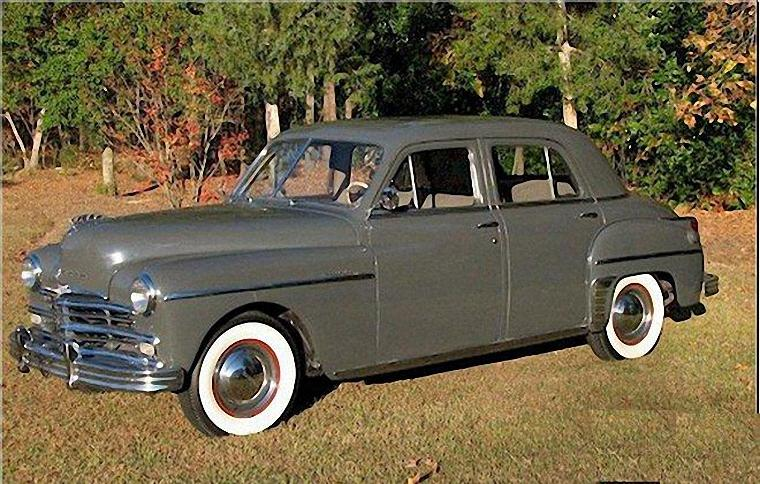 Front Left Gray 1949 Plymouth Special Deluxe Car Photo