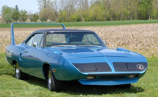 Front Right Blue 1970 Plymouth Superbird Car Picture