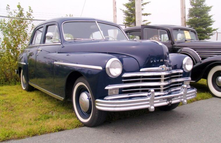 Front Right Blue 1949 Plymouth Special Deluxe Car Picture