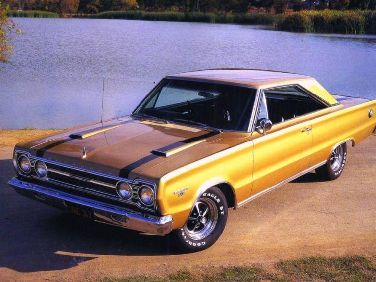 Front left Yellow 1967 Plymouth Belvedere Car Picture