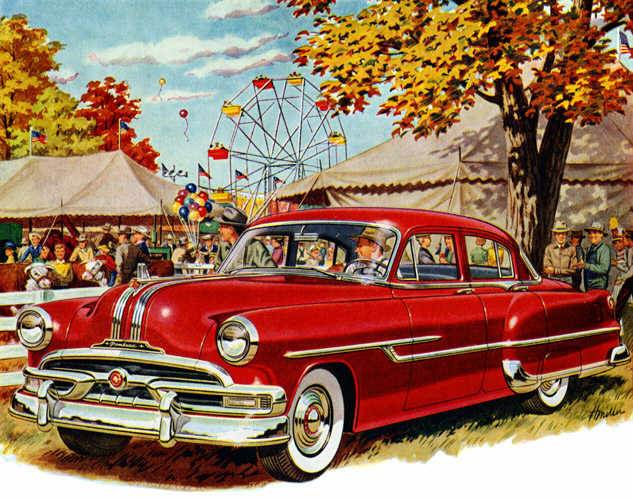 Front Left Red 1953 Pontiac Chieftain Catalina Car Picture