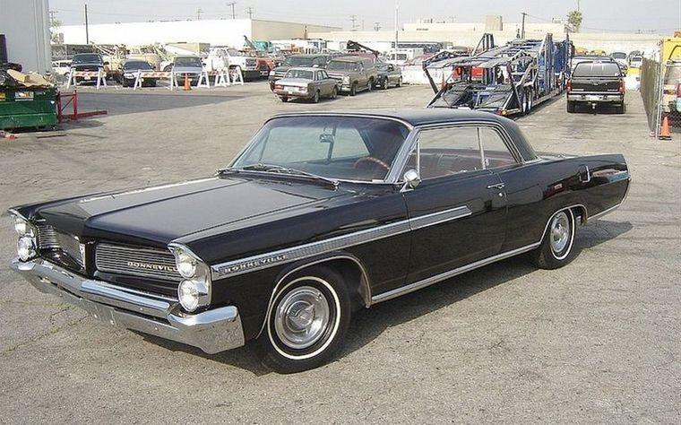 Front Left Black 1963 Pontiac Bonneville Car Picture