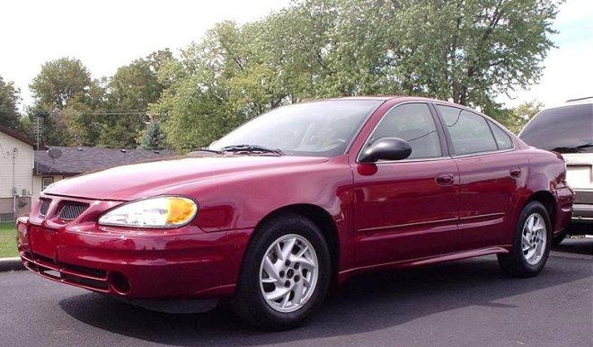 2004 Maroon Pontiac Grand Am Front left Side Car Picture