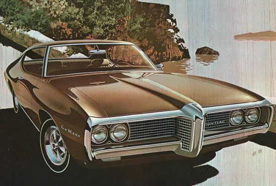 Front right brown 1969 Pontiac Lemans Car Picture