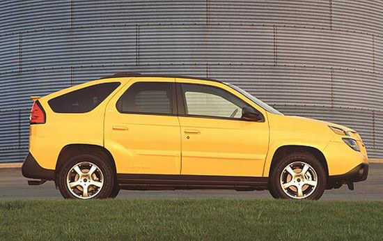 Right side yellow 2003 Pontiac Aztek Car Picture