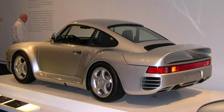 Rear Left Silver 1987 Porsche 959 Car Picture