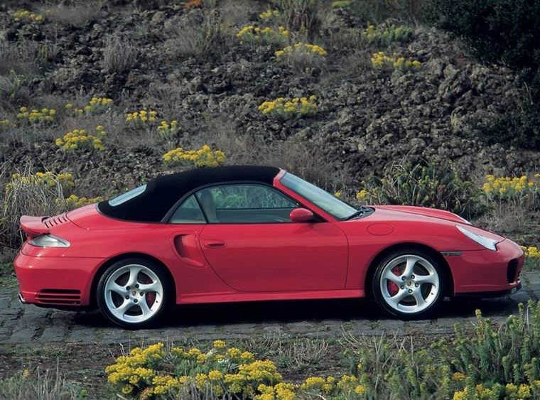 Right Side Red 2004 Porsche Turbo Car Picture