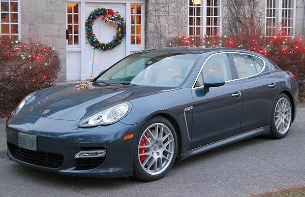 Front Left Blue 2010 Porsche Panamera Turbo Car Picture