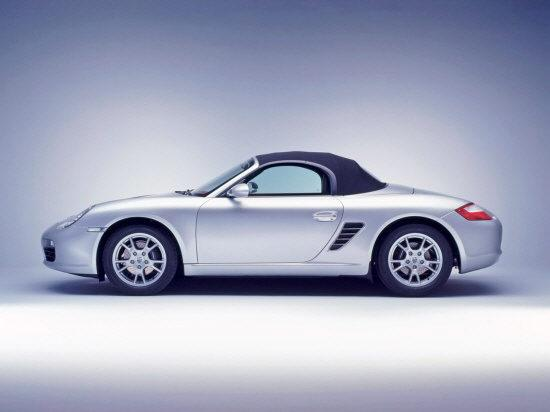 Presents a left side silver 2005 Porsche Boxster Car Picture