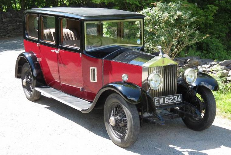 Front Right 1929 Rolls-Royce Maddox Saloon Car Picture