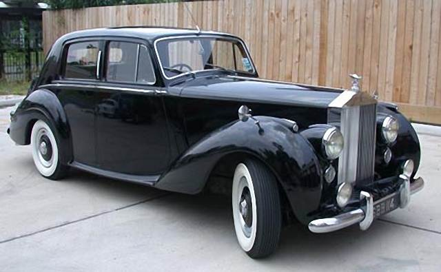 Front Right Black 1955 Rolls-Royce Silver Dawn Car Picture