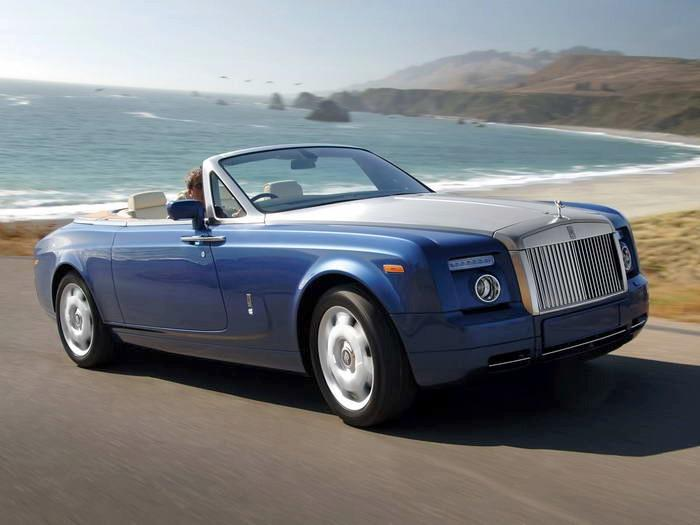 Front Right Blue 2008 Rolls-Royce Phantom Drophead Car Picture
