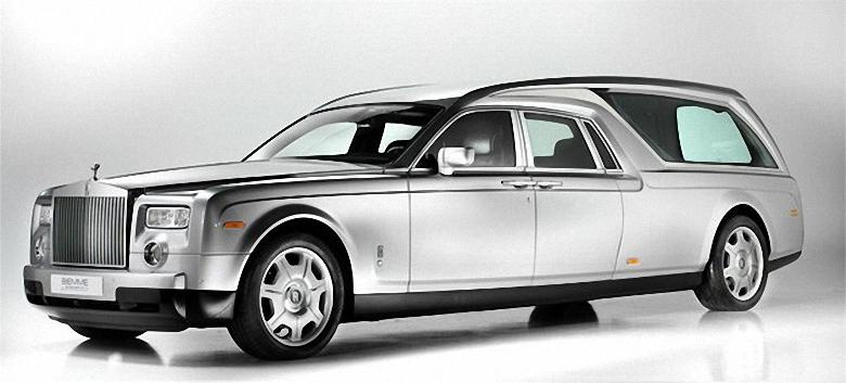 Front Left Rolls-Royce Phantom Hearse Picture