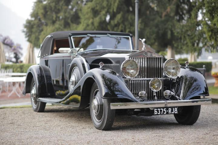 Front Right Black 1935 Rolls-Royce Phantom Car Picture