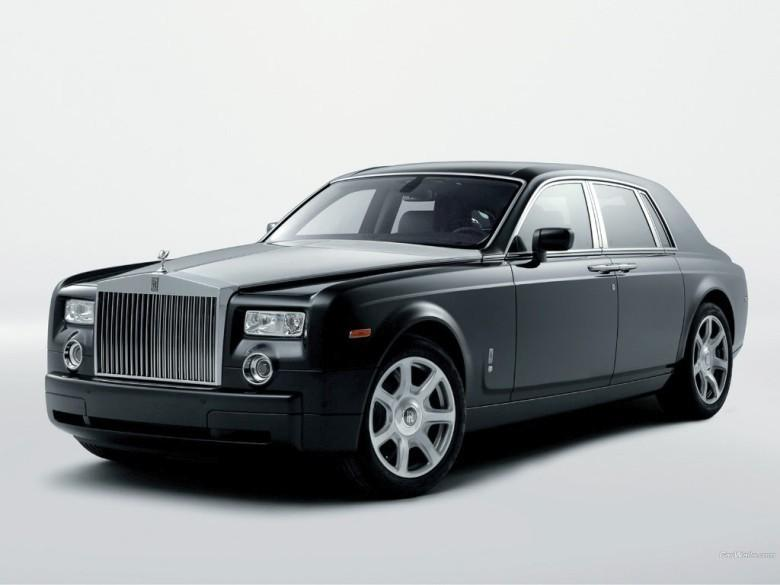 Front Left Black 1992 Rolls-Royce Phantom Car Picture