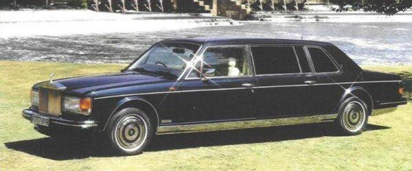 Front left black 1990 Rolls-Royce SS Limo Car Picture