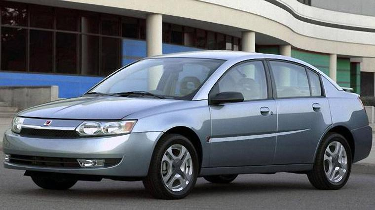 Front Left Steel Blue 2003 Saturn Ion Car Photo