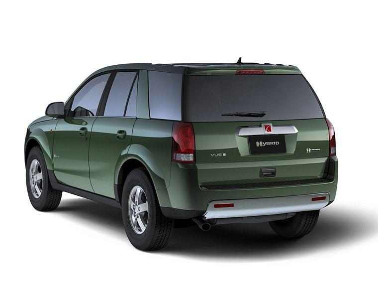Rear left green 2007 Vue Greenline Hybrid SUV Picture