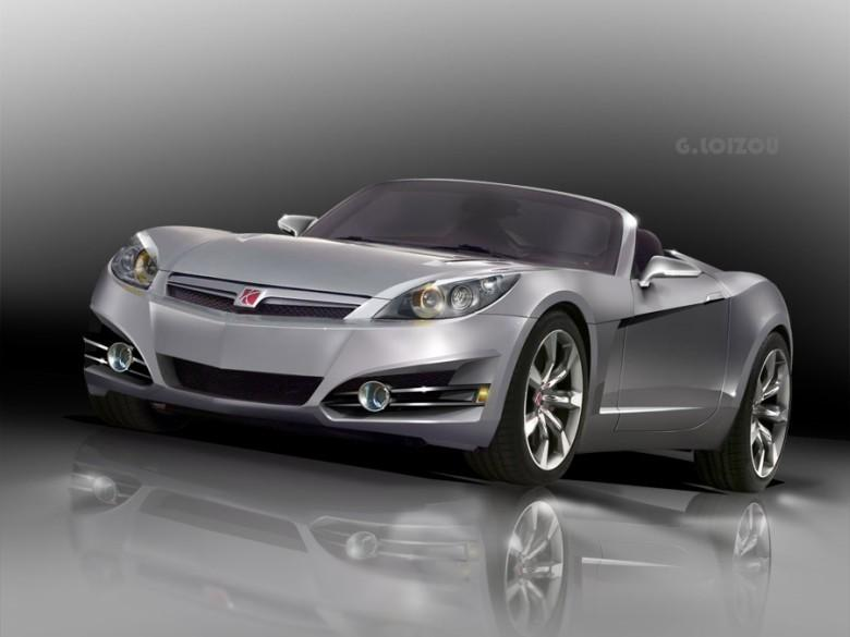 Front Left 2010 Saturn Sky Convertible Car Picture