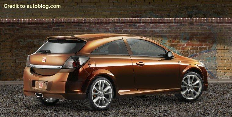Rear right brown Saturn Astra Tuner Concept Car Picture