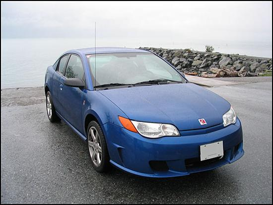 Front right blue 2004 Saturn Ion Red Line Car Picture Car Picture