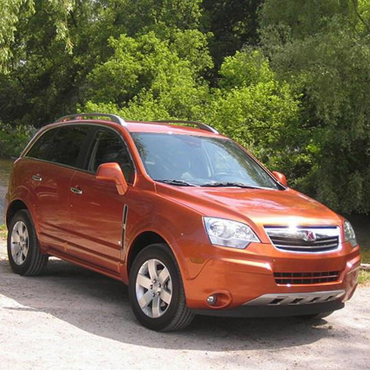 Front right orange 2008 Saturn VUE SUV Picture