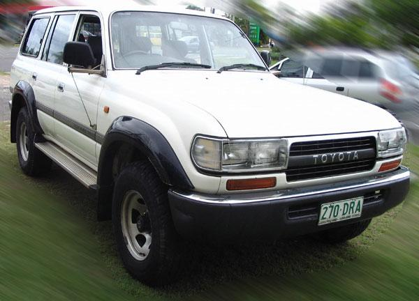 Front right white 1993 Toyota Land Cruiser SUV Picture