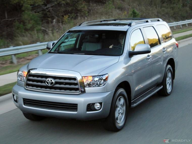 Front left gray 2008 Toyota Sequoia SUV Picture
