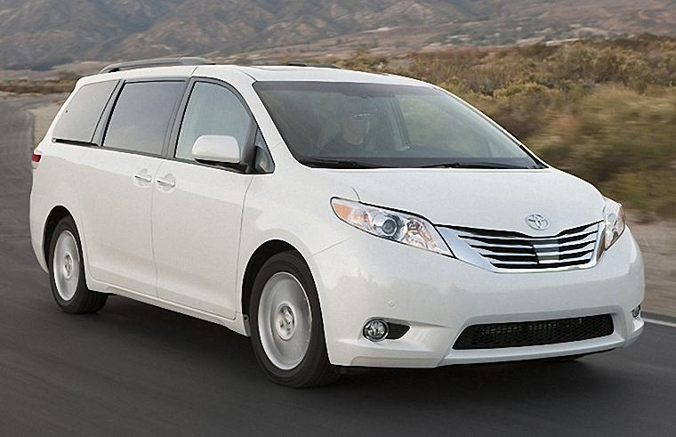 Front Right White 2011 Toyota Sienna Minivan Picture