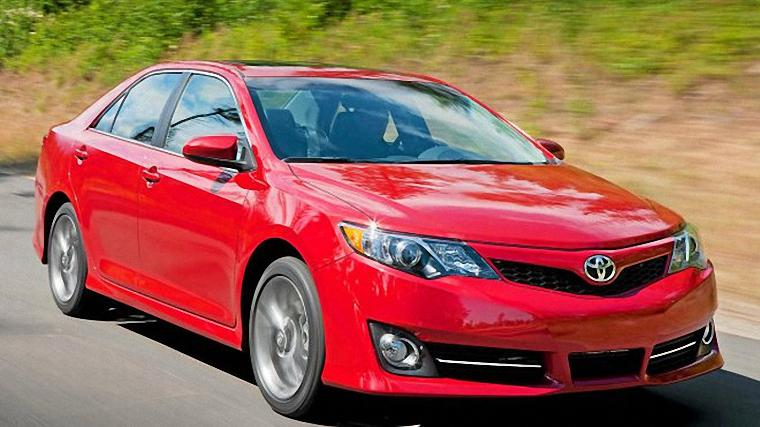 Front Right Red 2012 Toyota Camry car Picture