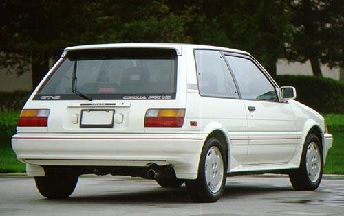 1987 Toyota Corolla FX16 Rear Right Car Picture