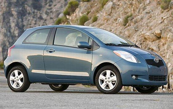 Front right blue 2007 Toyota Yaris Car Picture