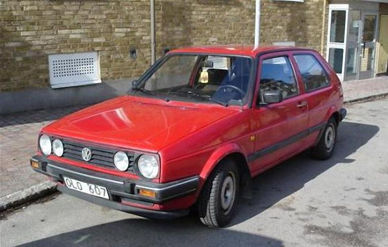 Front Left 1989 Volkswagen Golf Car Picture