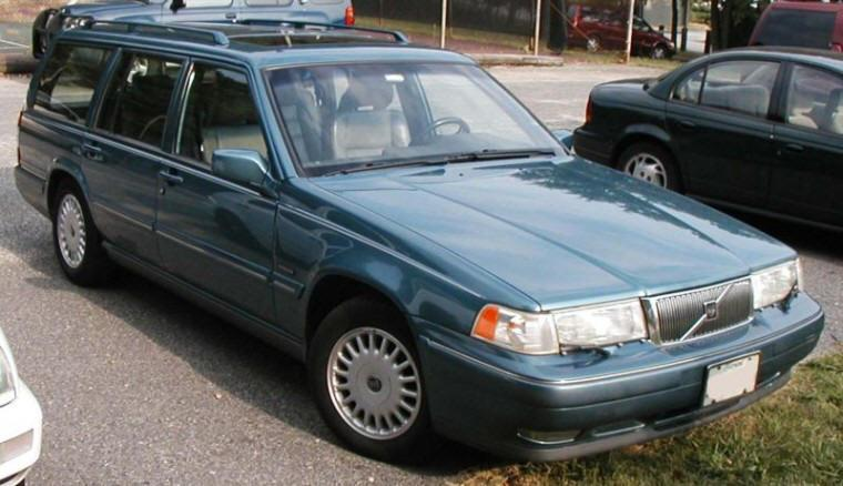 Front right blue 1998 Volvo 960 Station Wagon Picture