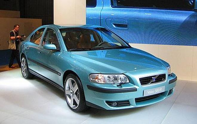 Front Right Blue-Green 2003 Volvo S60R Car Picture