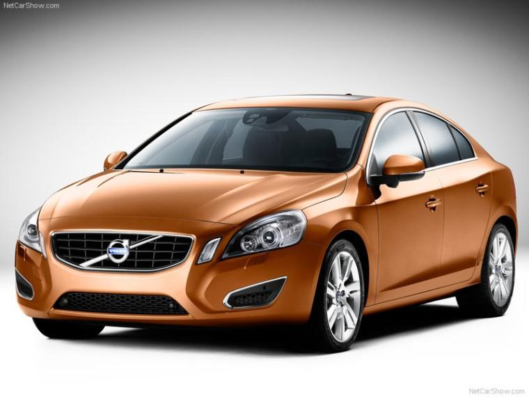 Front Left Orange 2011 Volvo S60 Car Picture