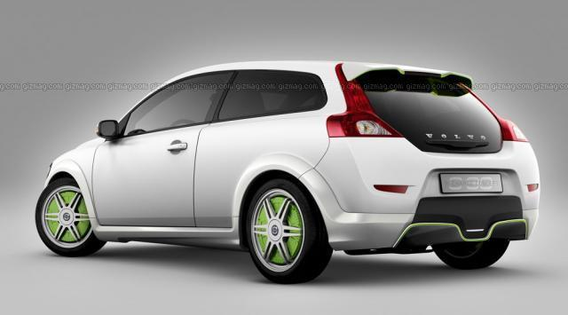 Rear left white 2007 Volvo Recharge Concept Car Picture